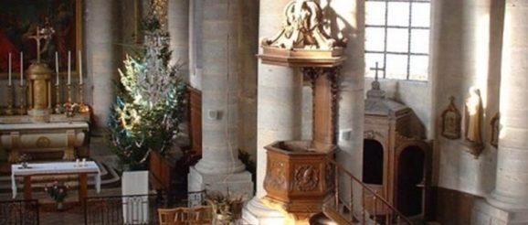 L'intérieur de l'église de Voray sur l'Ognon