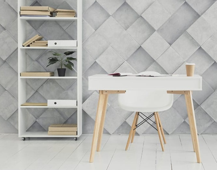 Bureau blanc et bois