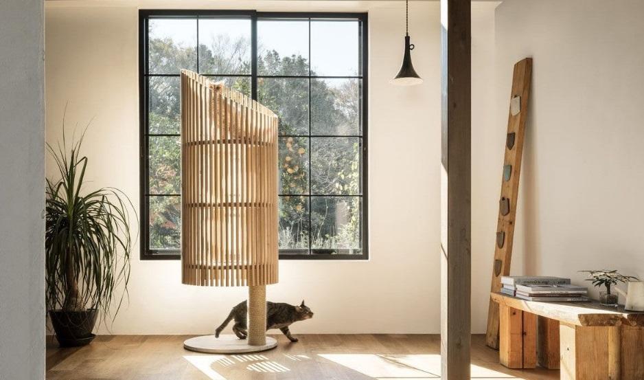 Décoration avec arbre à chat