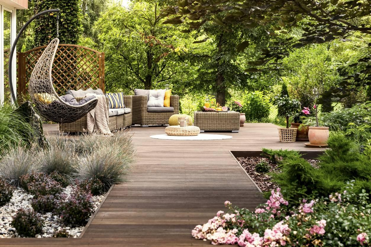 Terrasse et végétaux