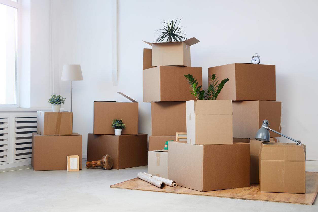 des cartons de déménagement