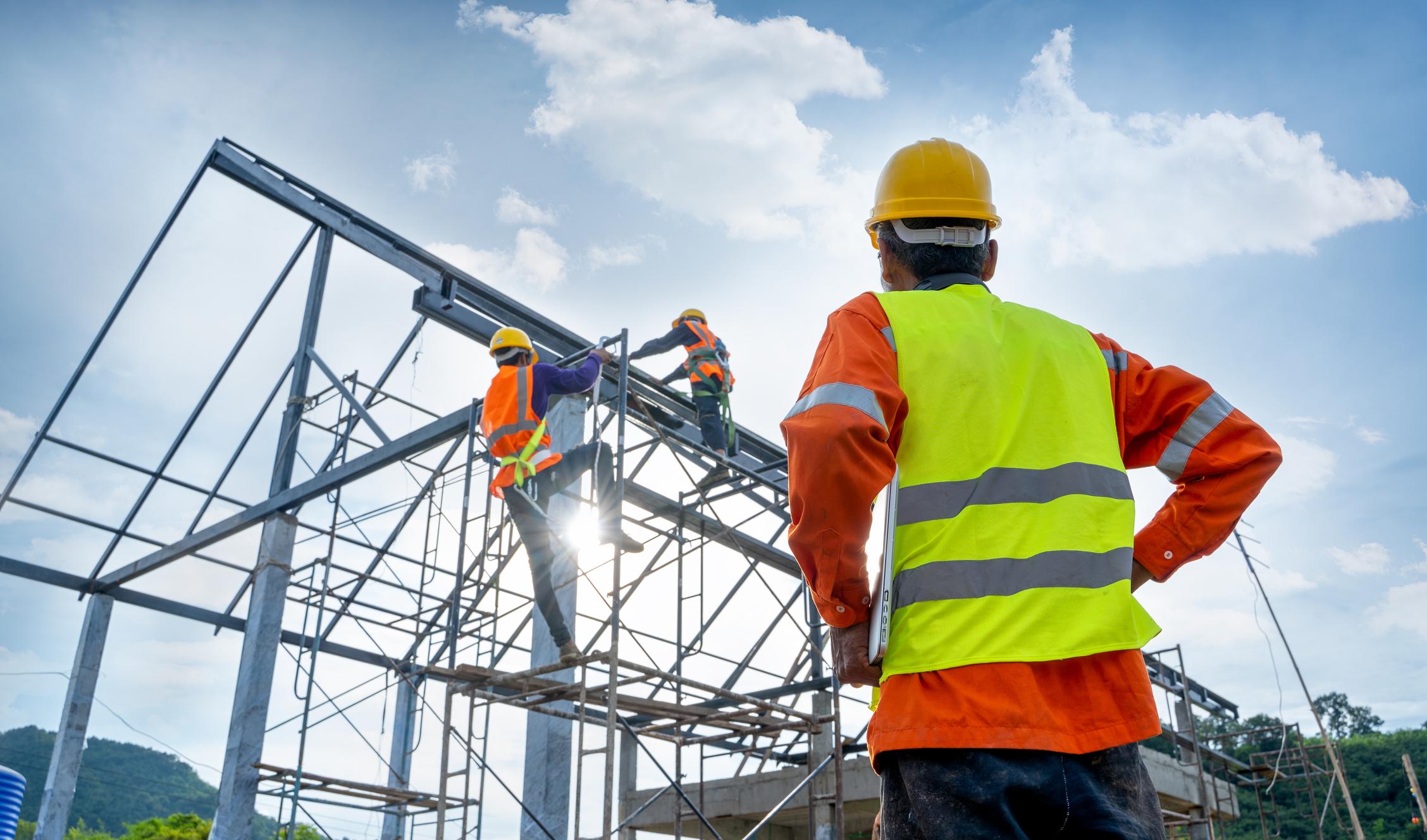 travailleurs BTP chantier