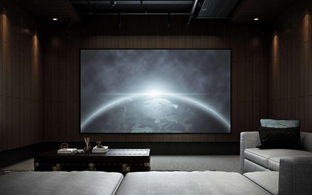 home cinéma salle obscure sous sol maison