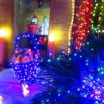 Un couple transforme son jardin en parc d'attractions de Noël