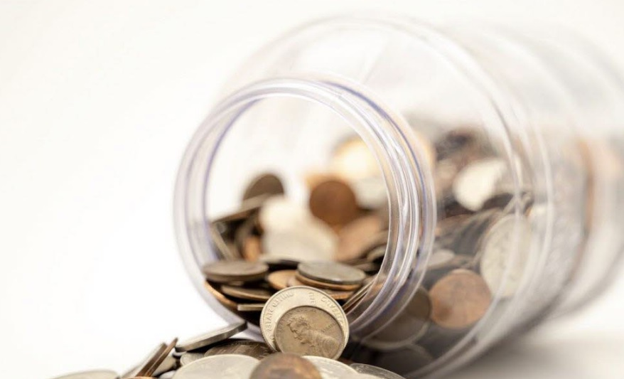 Bocal avec monnaie