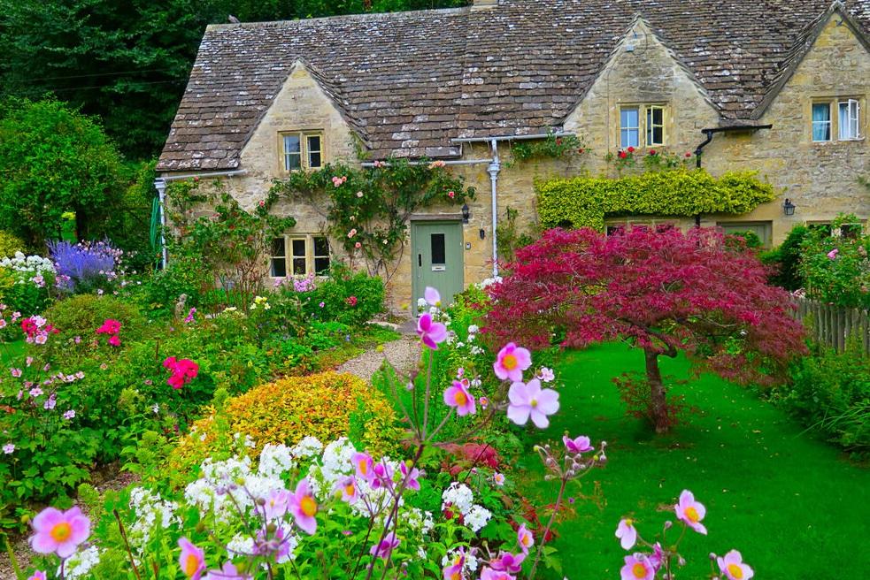 jardin anglais maison