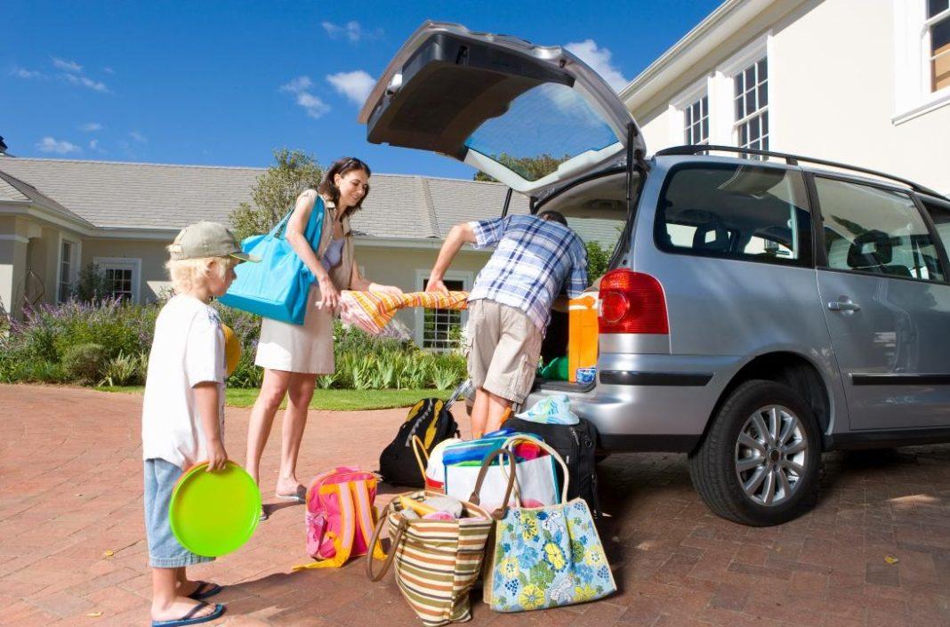 Départ en vacances familiales